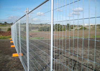 Galvanized Steel Temporary Fencing Panel Alkali Resistance With 50x150mm Mesh Size